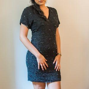 Vtg Beaded Dress